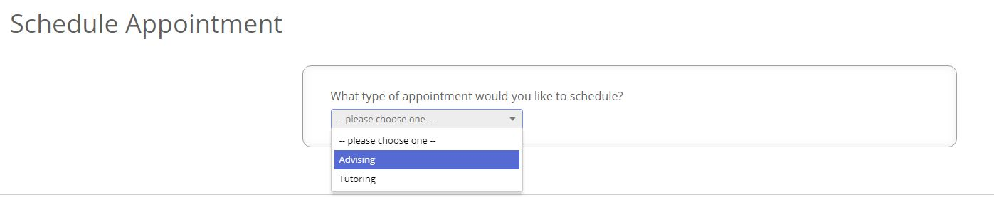 Appointment scheduling step 1