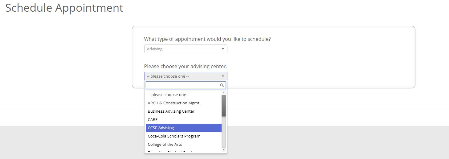 Appointment scheduling step 2
