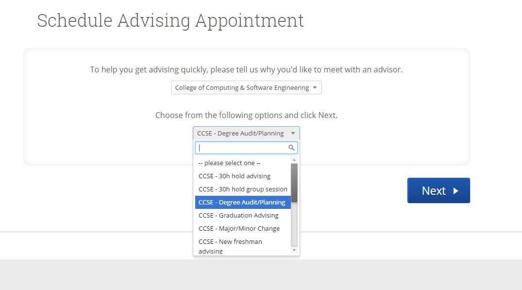 Appointment creation