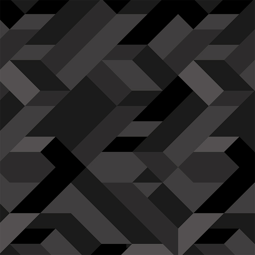 Black geometric pattern.