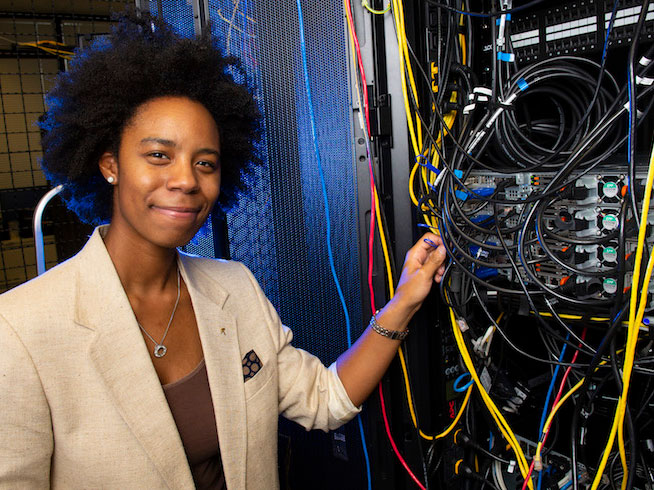 Mizzani Walker with some server cables.
