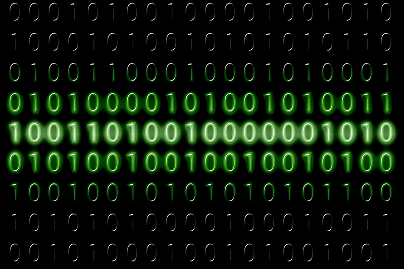 Binary computing code.